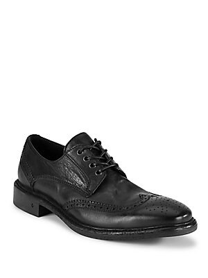Brogued Wingtip Leather Shoes