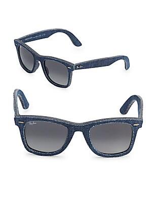 Denim Wayfarer Sunglasses