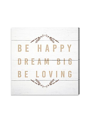 Be Happy Be Loving Canvas Art