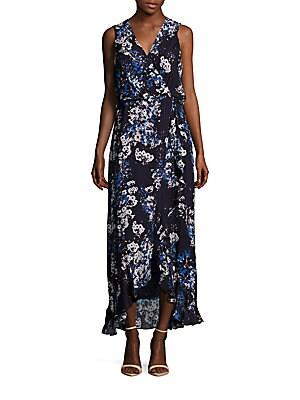 Floral Printed Ruffled Dress
