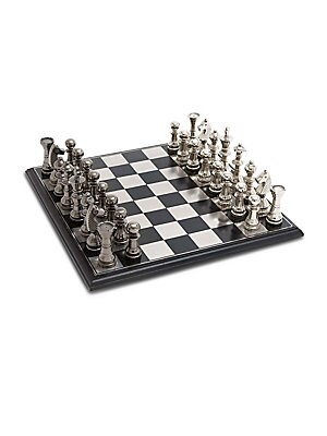 Aluminum, Stainless Steel & Wood Chess Set