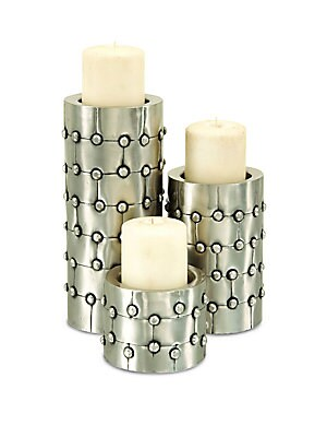 Cylinder Pillar Candle Holders- Set of 3