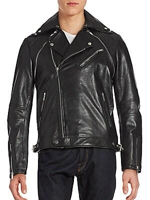 Adaptable Leather Moto Jacket