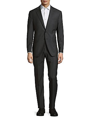 Wool-Blend Two-Button Suit
