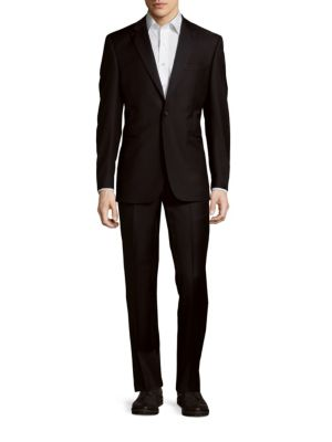 Wool Peak Lapel Tuxedo Saks Fifth Avenue Made in Italy
