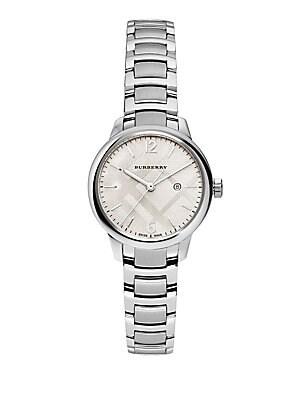 Classic Round Stainless Steel Bracelet Watch