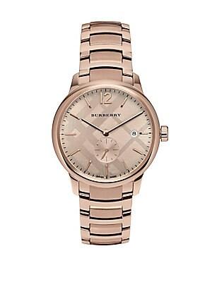 Rose Gold & Stainless Steel Bracelet Watch