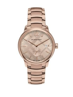 Rose Gold  Stainless Steel Bracelet Watch Burberry