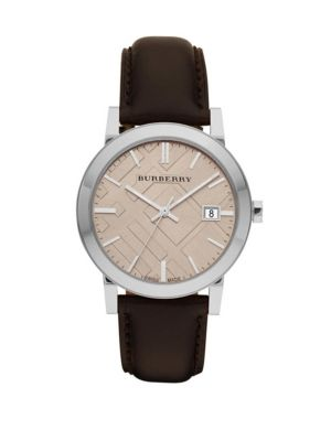 Classic Leather Watch Burberry