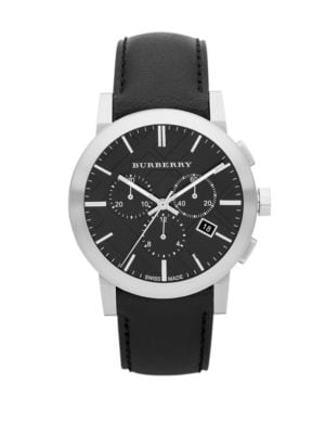 Stainless Steel Chronograph Watch Burberry