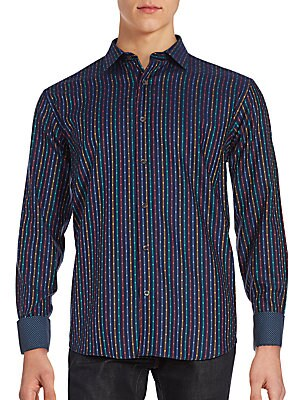 Long Sleeve Woven Button-Down Shirt