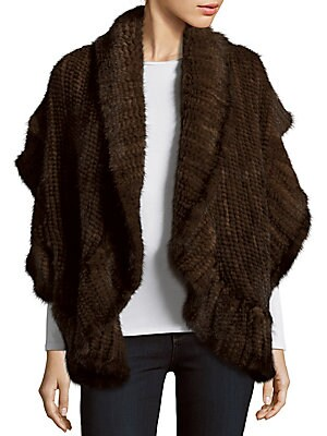 Solid Mink Fur Wrap