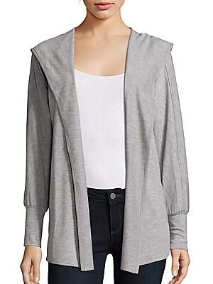 Open Front Heathered Jacket
