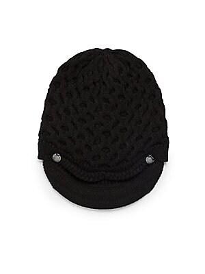 Honeycomb Knit Cabbie Hat