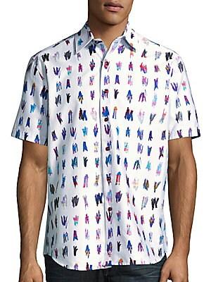 Saline Lakes Printed Short Sleeve Cotton Shirt