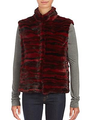Sleeveless Dyed Mink Fur Jacket