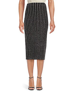 Cielo Striped Fitted Skirt