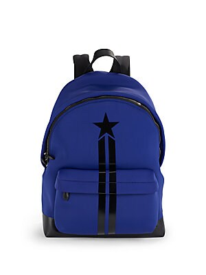 Star & Stripes Leather-Trimmed Backpack
