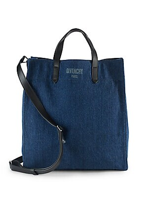 Solid Denim Tote Bag