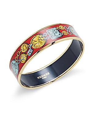 Red/Gold Enamel Bangle Bracelet