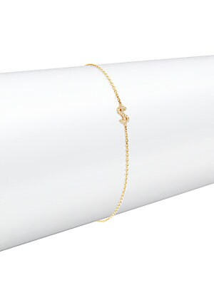 Click here for Diamond & 14K Yellow Gold Bracelet prices