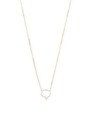 Click here for Diamond & 14K Yellow Gold Caption Necklace prices