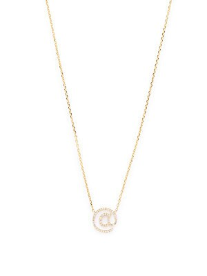 Click here for Diamond & 14K Yellow Gold Pendant Necklace prices