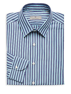 Two Tone Striped Dress Shirt