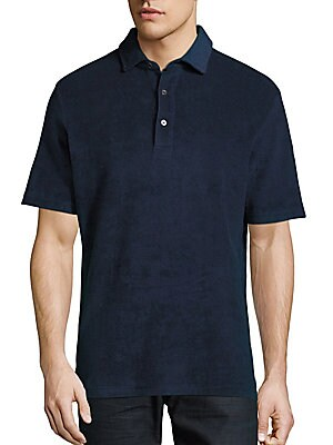 Solid Short-Sleeve Cotton-Blend Polo
