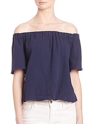 Off-Shoulder Cotton Gauze Top