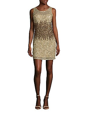 Sleeveless Sequined Sheath Dress