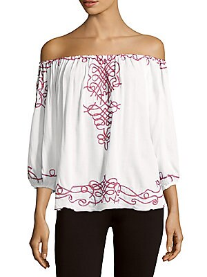 Abel Off-Shoulder Embroidered Top