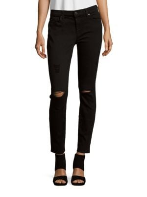 Gwenevere Solid Ankle-Length Jeans