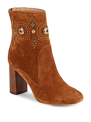 Leather Round Toe Ankle Boots