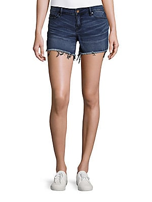 Weekend Frayed Whiskered Denim Shorts
