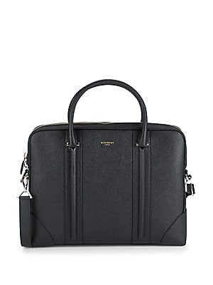 Textured Leather Briefcase