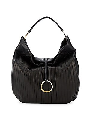 Ribbed Leather Handbag