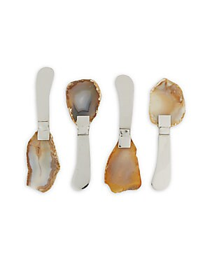 Agate & Stainless Steel Spreaders- Set of 4