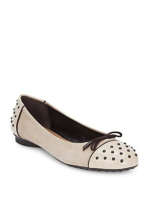 Pebbled Leather Ballet Flats