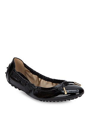 Leather Pebble Sole Ballet Flats