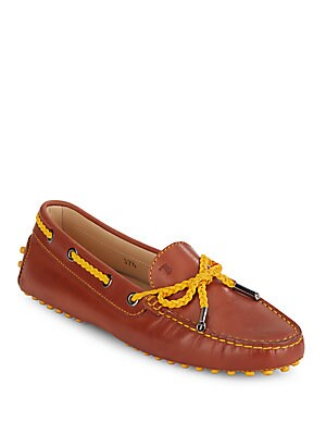 Leather Tie Moccasins