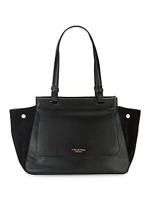Zipped Leather Handbag