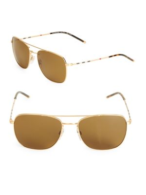 BURBERRY 58Mm Aviator Sunglasses at Saks Off 5TH