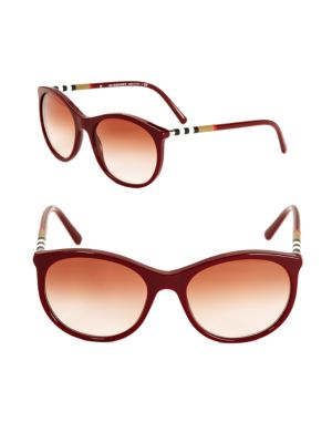 BURBERRY 55Mm Round Gradient Sunglasses at Saks Off 5TH