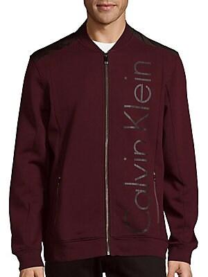 Cotton-Blend Long-Sleeve Jacket
