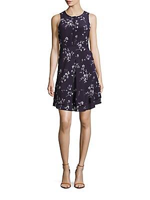 Ruffled Floral Midi Dress