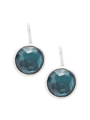 Sterling Silver Rock Candy Drop Earrings