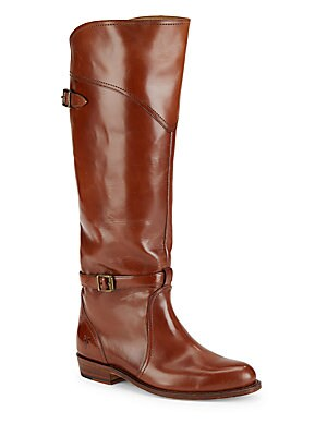 Almond Toe Leather Riding Boots