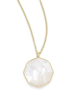 Rock Candy® Mother-Of-Pearl, Quartz & 18K Yellow Gold Pendant Necklace