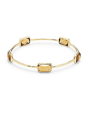 Rock Candy Citrine & 18K Yellow Gold Bangle